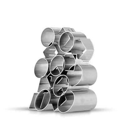 Beispiel eines Design-Fotorahmens, der vollständig aus Metall hergestellt wurde