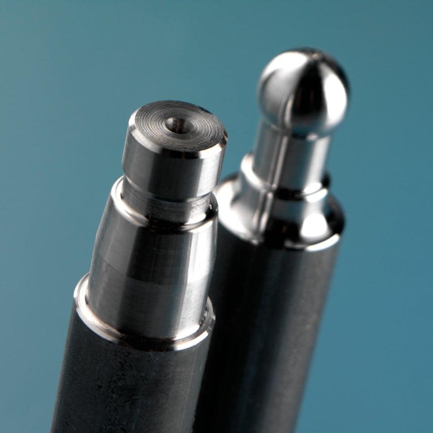Pezzi realizzati da barra con asportazione di truciolo su sistema transfer CNC