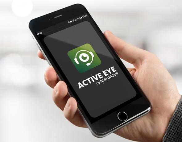 Applicazione Active Eye per la manutenzione da smartphone.