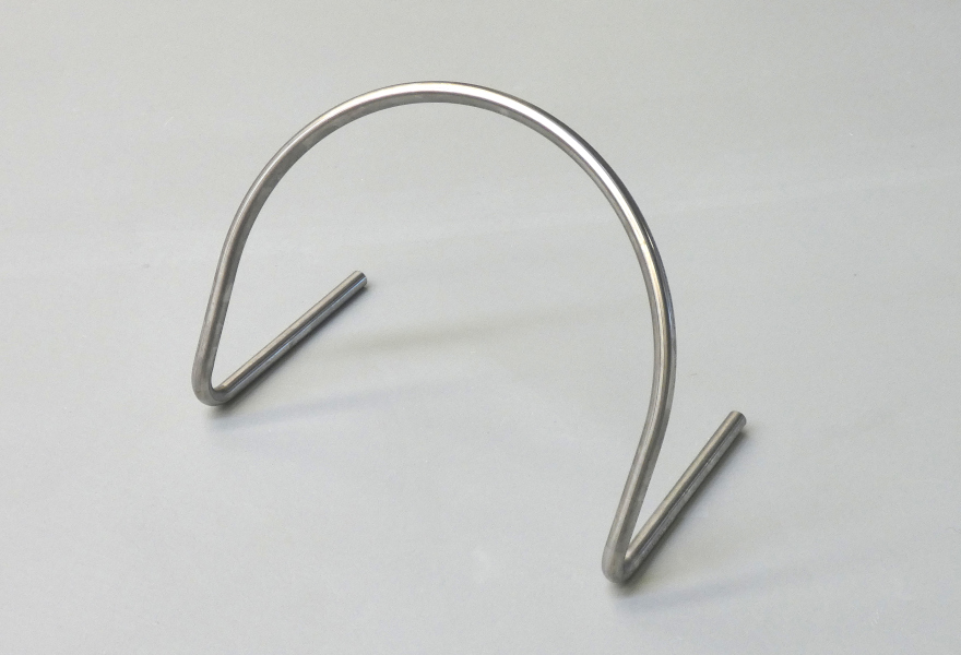 Designer chair element made with ELECT40 tube bending machine with extended bending head.