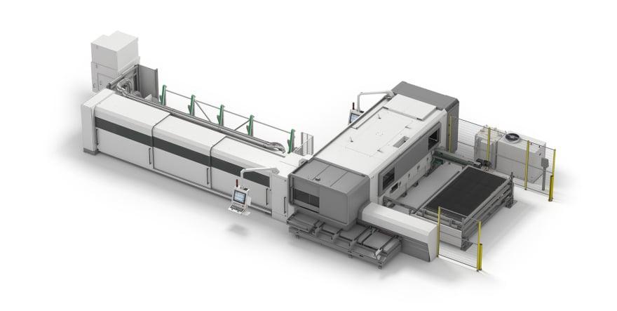 Sheet and tube laser cutting machine