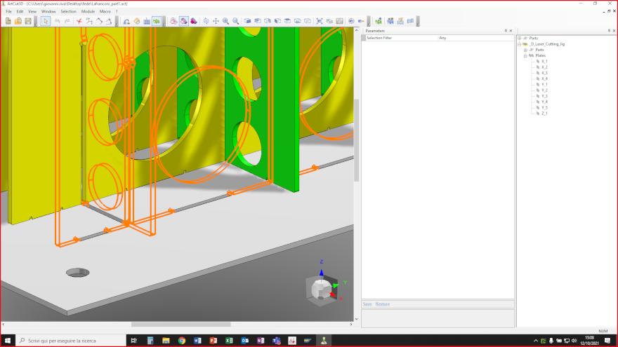 ArtCut fornisce le piastre di supporto di tutte le fessure necessarie a assemblare la struttura in modo rapido e semplice