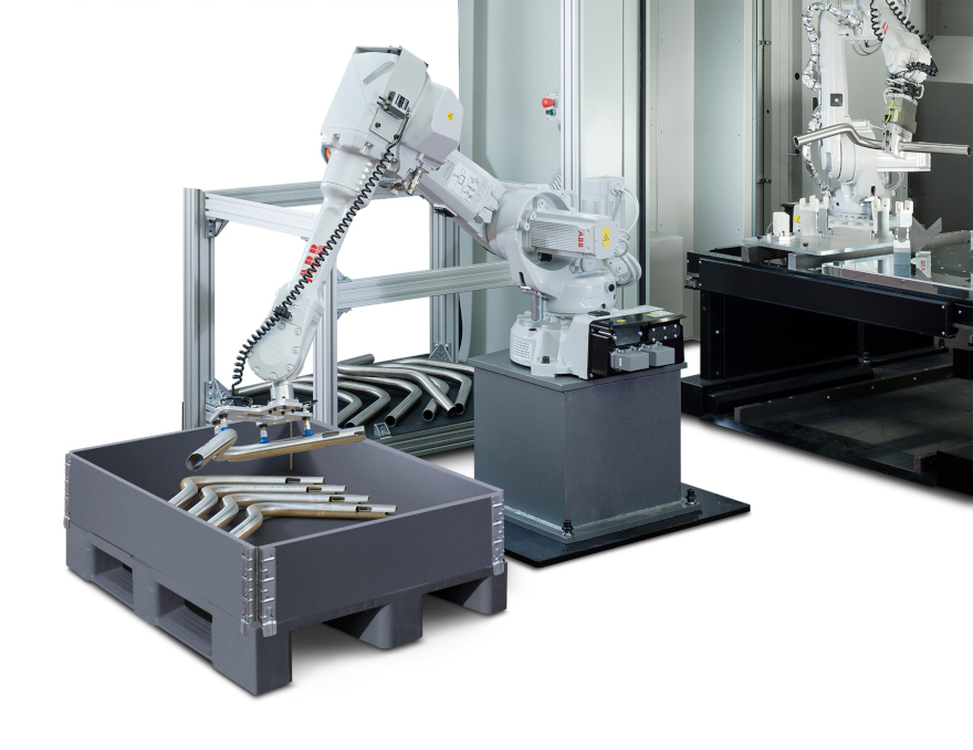 3D laser cutting system with automatic unloader