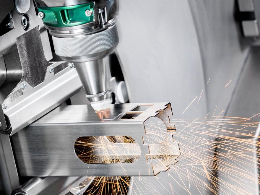 Sistema di taglio laser per tubi e barre.