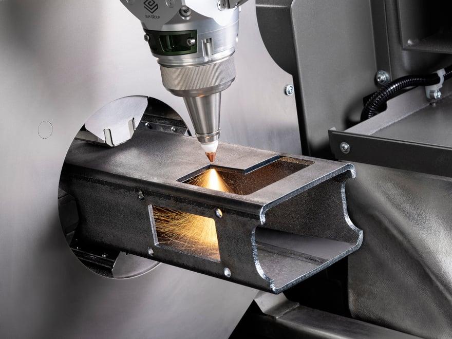 Laser cutting of a tubular frame component with LT FIBER EVO Lasertube