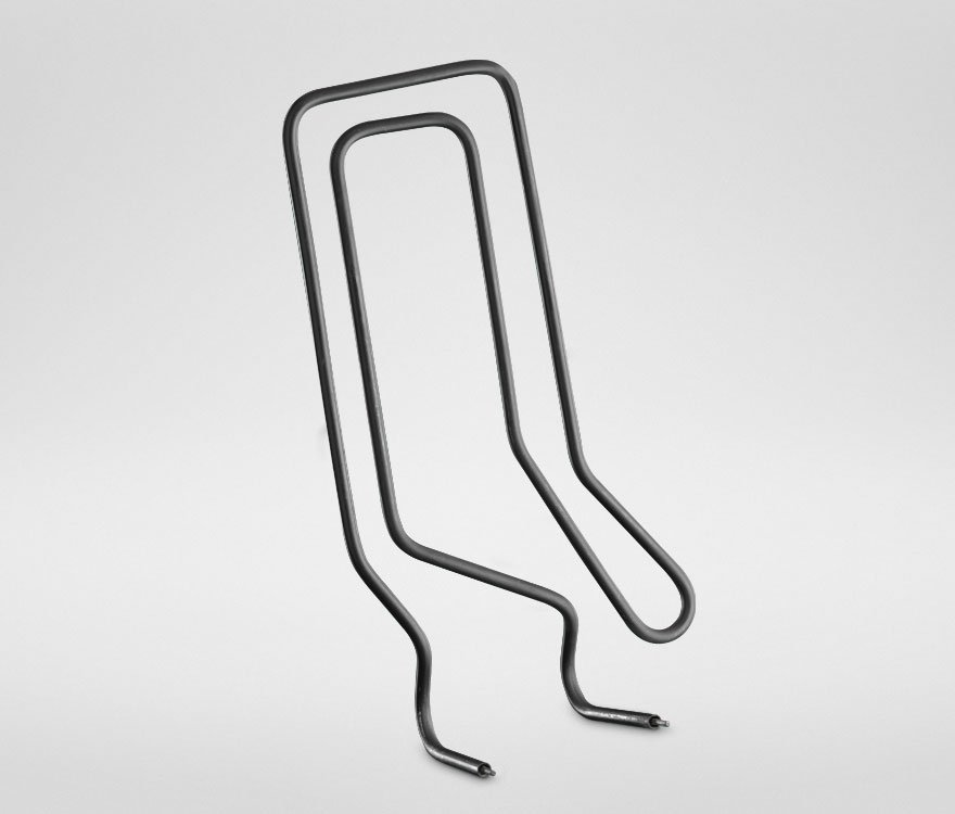 bent tubular electric heating element