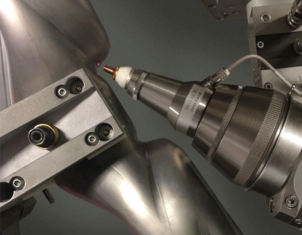 3D laser cutting of hydroformed tube.