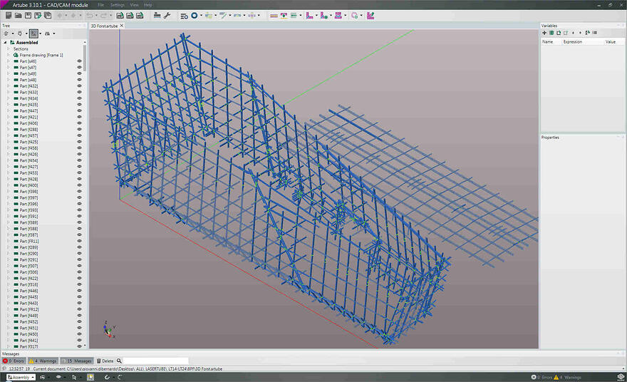 Artube is the software for programming 3D laser tube cutting jobs.