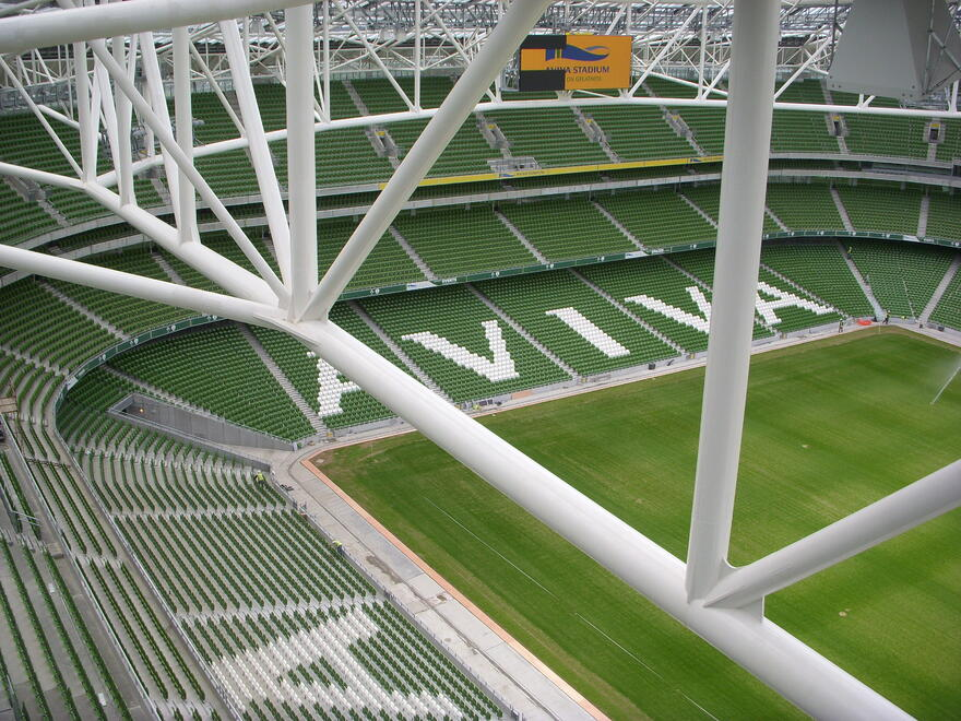 Aviva stadium great architecture in tune with urban life