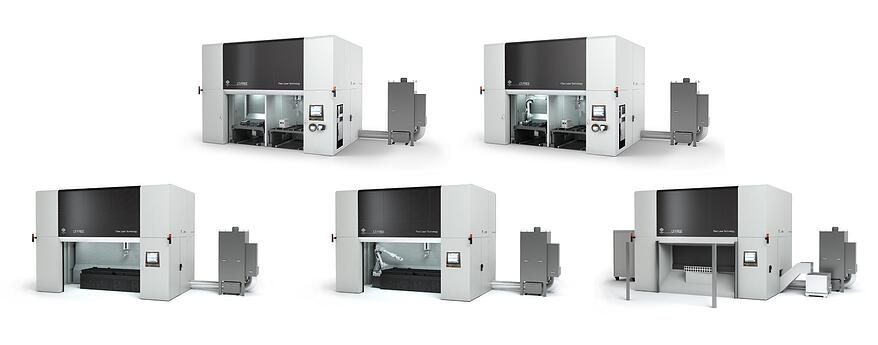 configuration of LT-FREE 5 axis laser cutting system