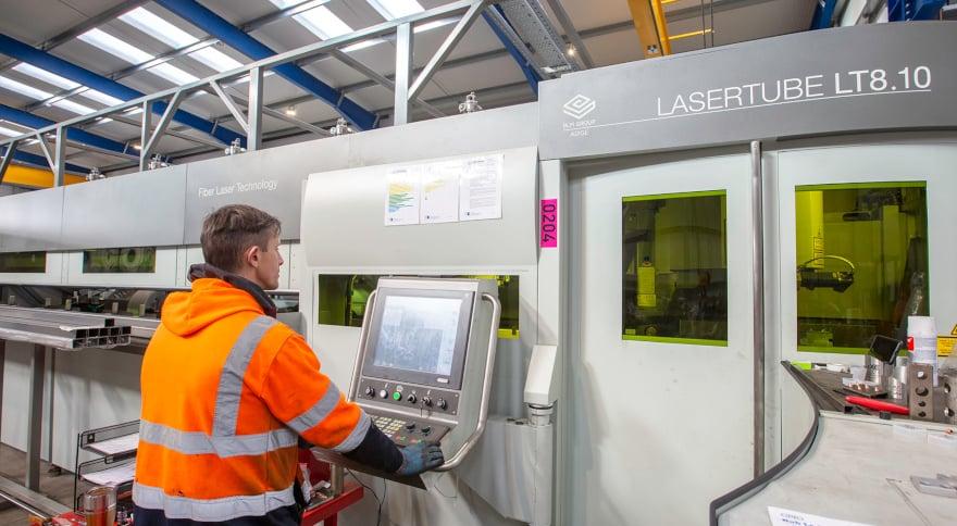Installation der LT8.10 in den neuen Werken von Optimal Metal Services