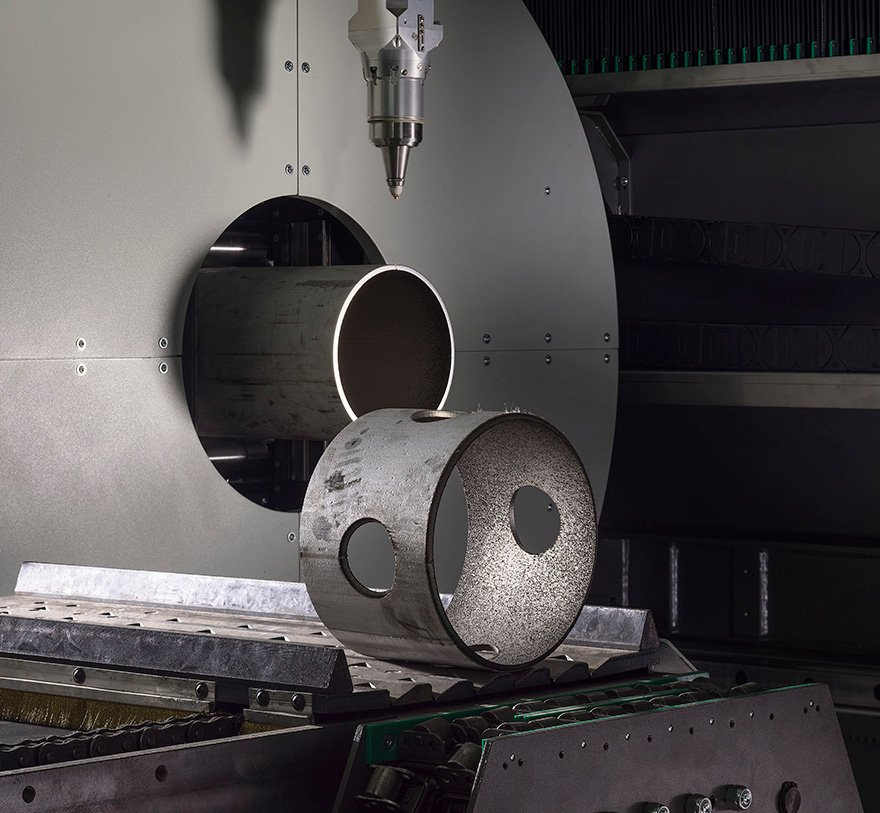 Automatic unloading of short parts on Lasertube system